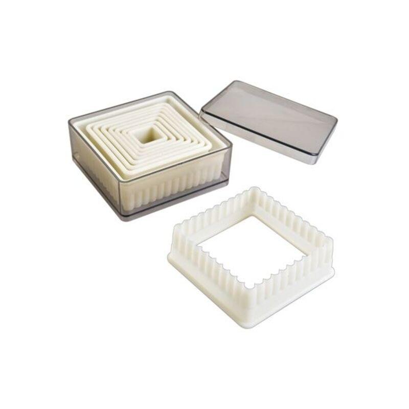 Découpoirs carrés cannelés (x9)