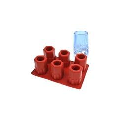 Moule silicone 6 ice-shot hexagonaux