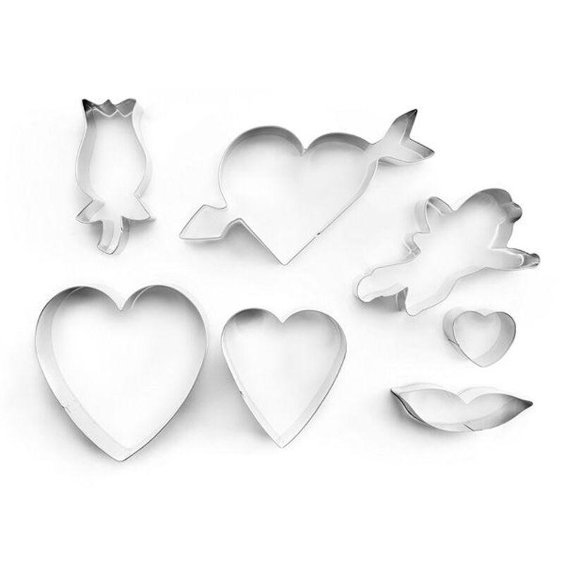Emporte-pièce Saint Valentin assortis (x7)