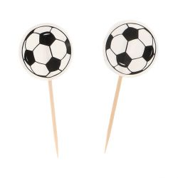 Cupcake Toppers Ballon de Foot (x25)