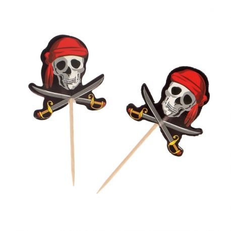 Pic déco cupcakes Pirates (x12)