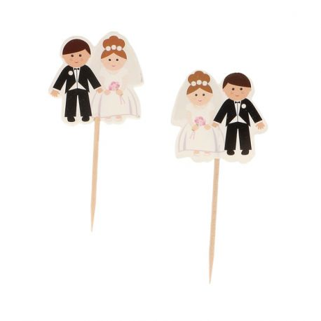 Cupcake Toppers Mariage (x12)