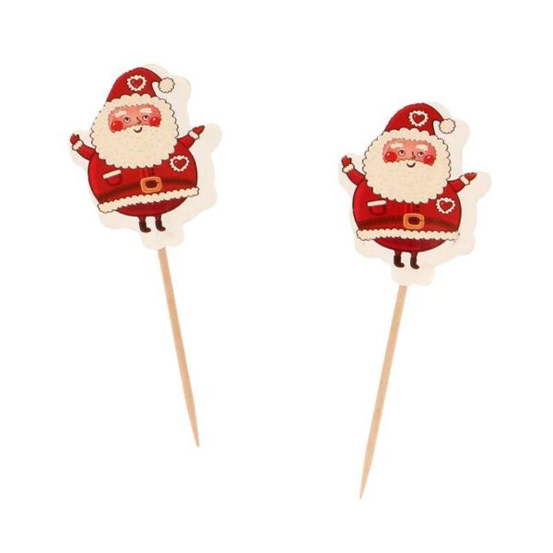 Cupcake Toppers Père Noël (x12)