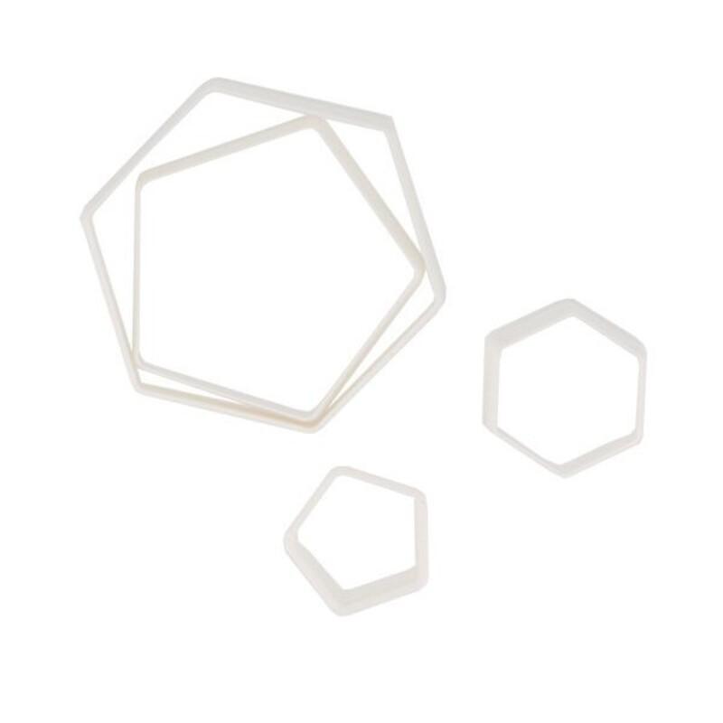 Découpoirs Hexagones assortis Patisdécor (x4)