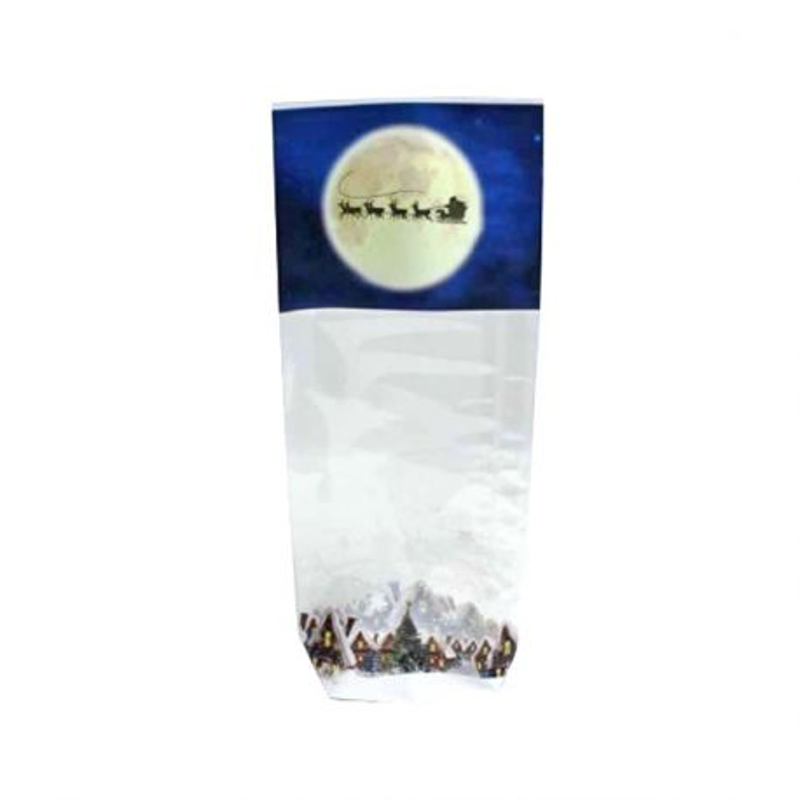 Sachets fond carton Pleine Lune de Noël (x100)