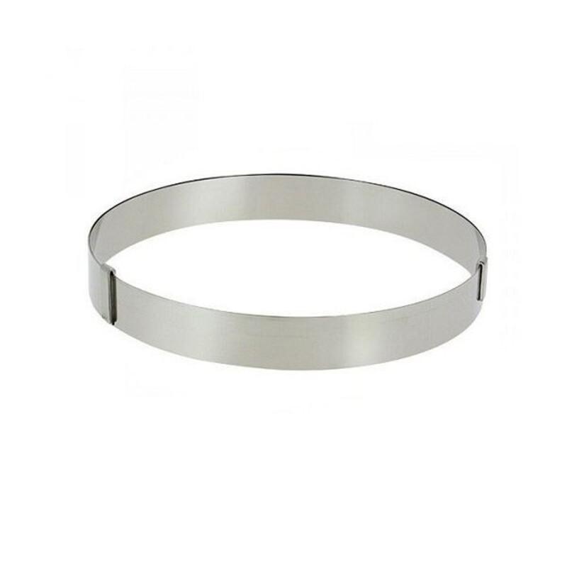 Cercle à pâtisserie extensible inox 18 à 36 cm De Buyer