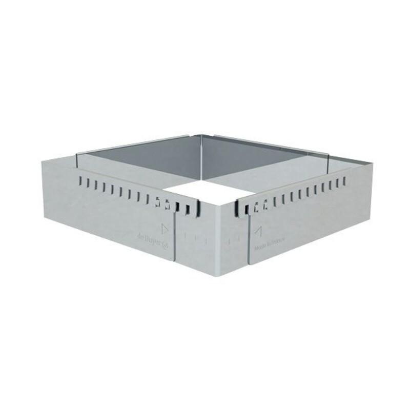 Cadre extensible inox carré 16 à 30 cm