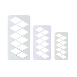 Découpoir géométrique diamants XL PME (x3)