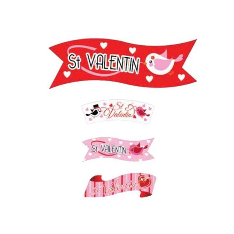 Banderoles azyme Saint Valentin assorties (x24)