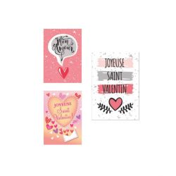 Rectangles azyme Saint Valentin assorties (x24)