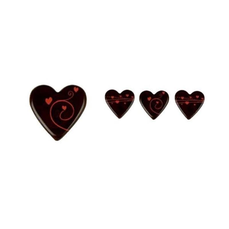Coeurs en chocolat graphisme tendresse (x160)