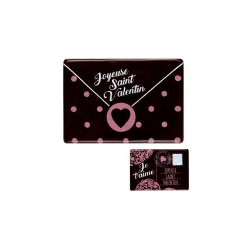 Lettres Saint Valentin en chocolat assorties (x48)