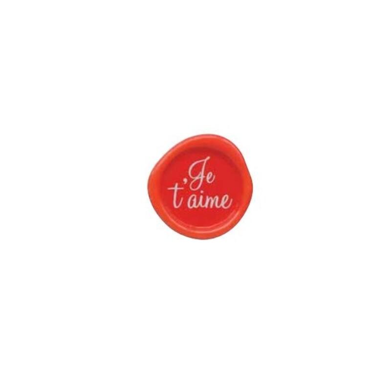 Décor chocolat blanc sceau Je t'aime (x132)