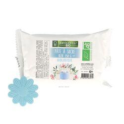 Pâte à sucre bleue Bio 250 g Patisdécor Bio