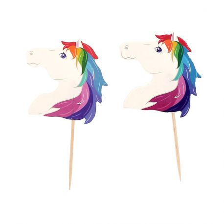 Cupcake Toppers Licorne (x20)