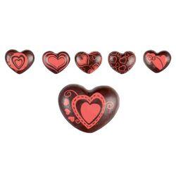 Coeurs en chocolat 3D assortis (x48)