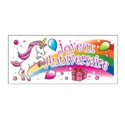 Banderole Anniversaire Licorne (x24)