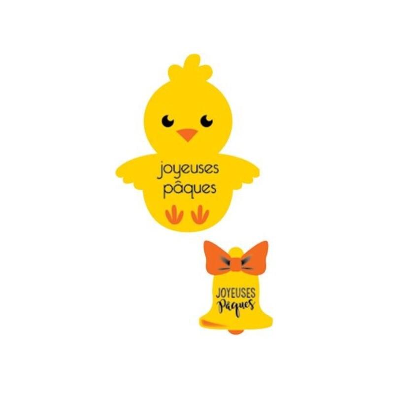 Poussins/cloches azyme Joyeuses Pâques (x24)
