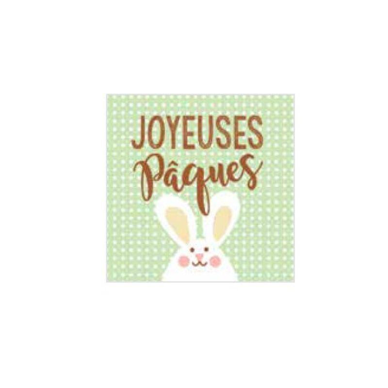 Carrés azyme Joyeuses Pâques Lapin (x24)