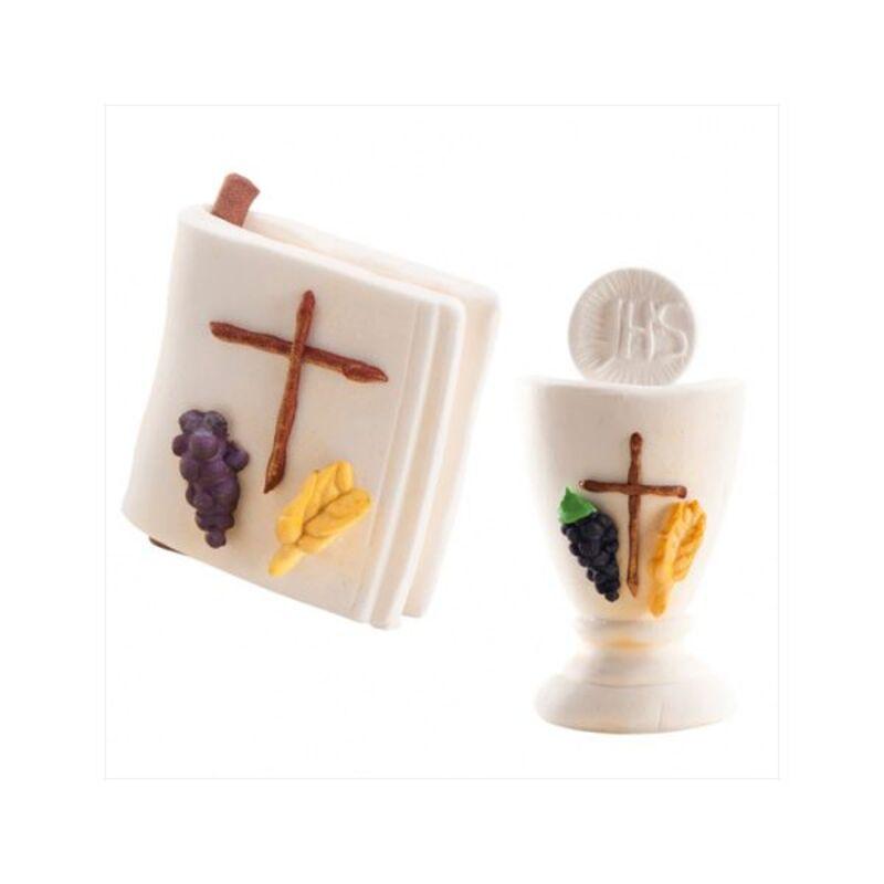 Décors en sucre bible / calice (x12)