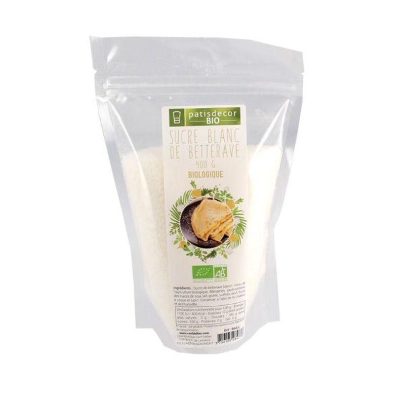Sucre blanc de betterave Bio 400 g Patisdéco Bio