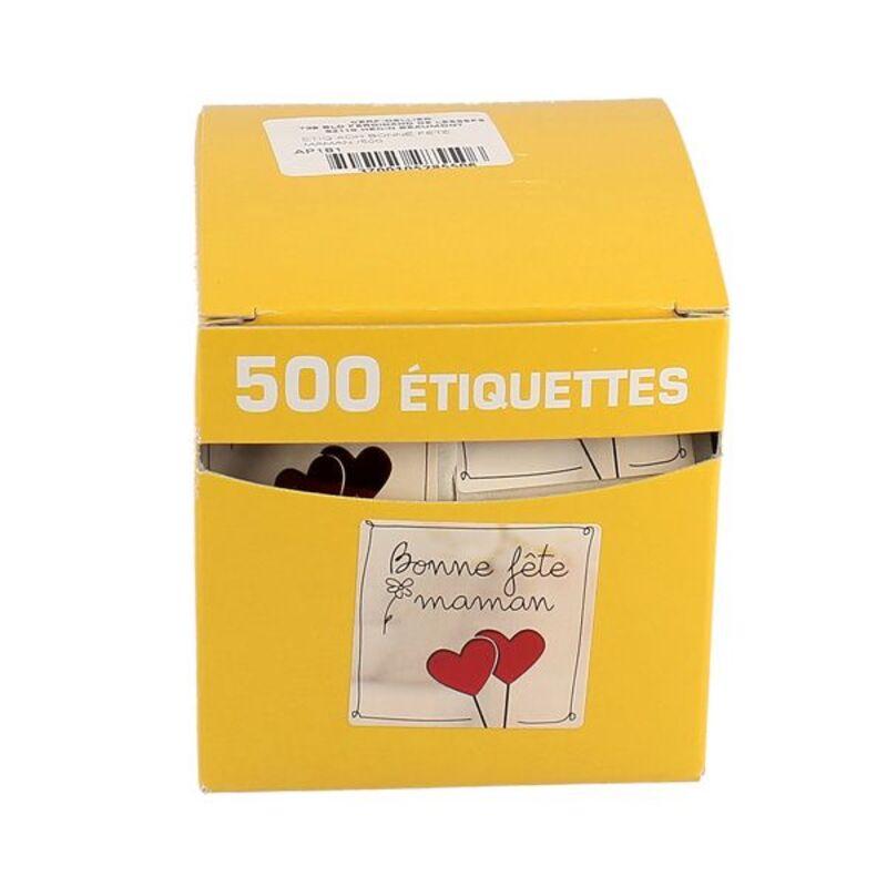 Etiquette adhésive Bonne Fête Maman (x500)