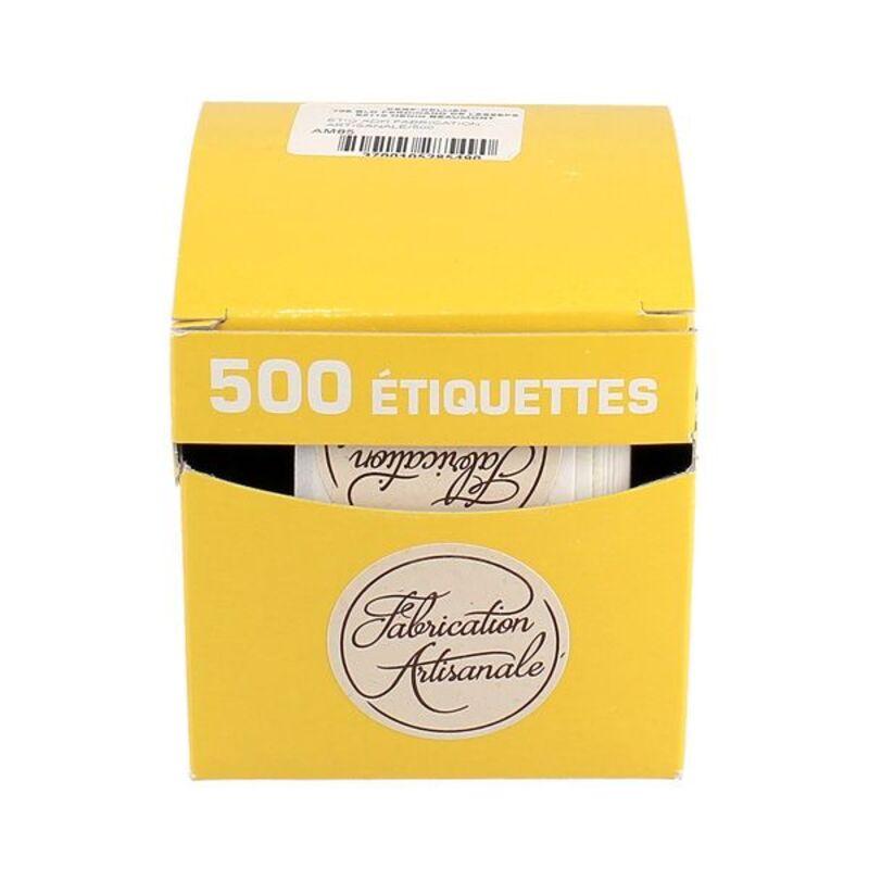 Etiquette adhésive Fabrication Artisanale (x500)
