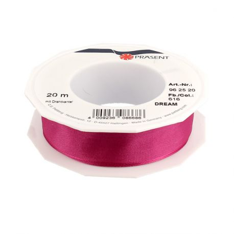 Ruban rose fuchsia 25 mm (20 m)