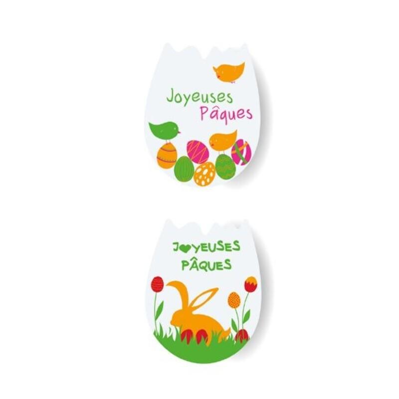 Oeufs pâte d'amande Joyeuses Pâques assortis  (x60)