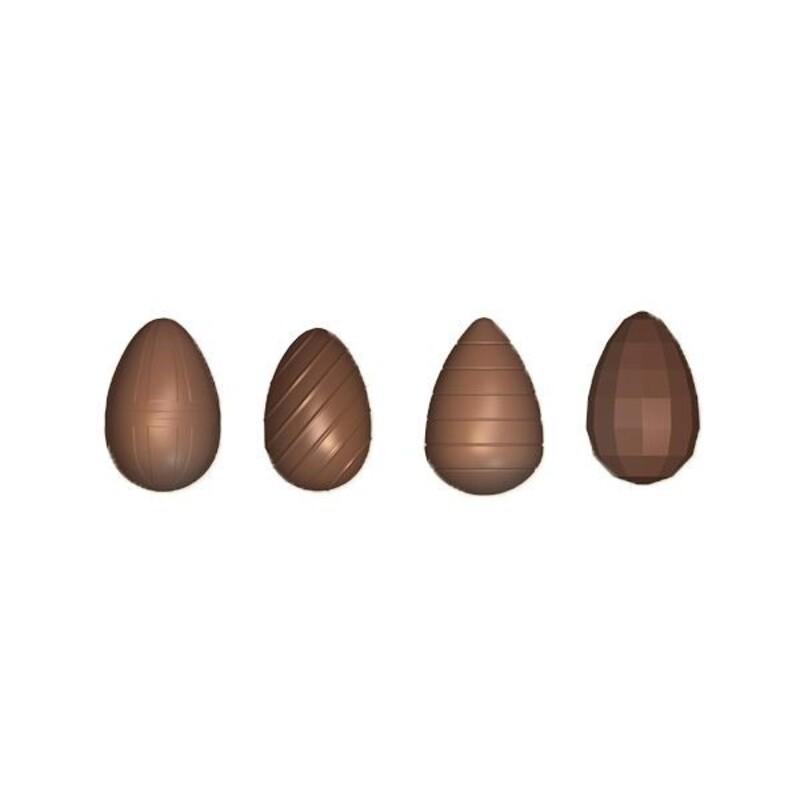 Moule chocolat oeufs assortis