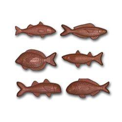 Moule friture en chocolat poissons assortis