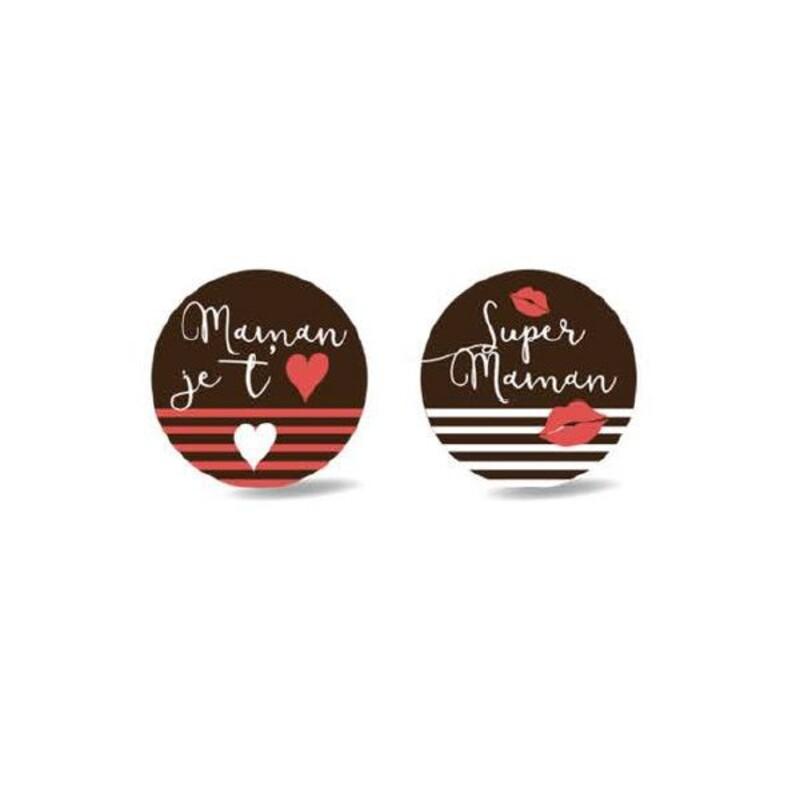 Rond chocolat noir Super Maman assortis (x54)