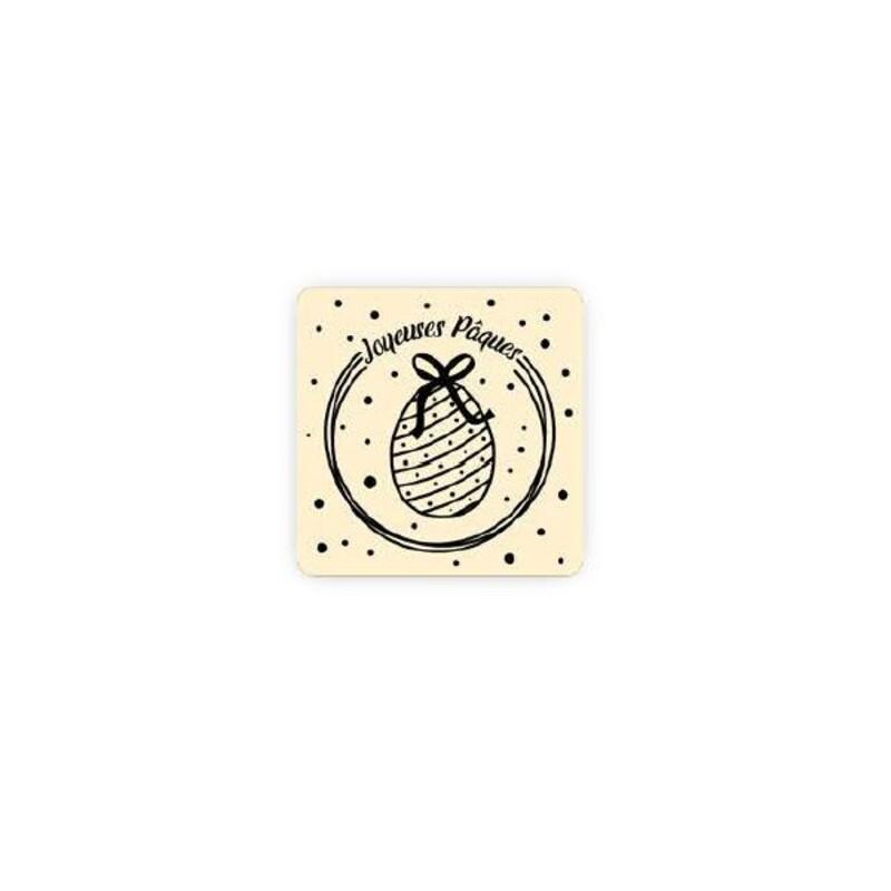 Carré chocolat blanc Joyeuses Pâques (x80)