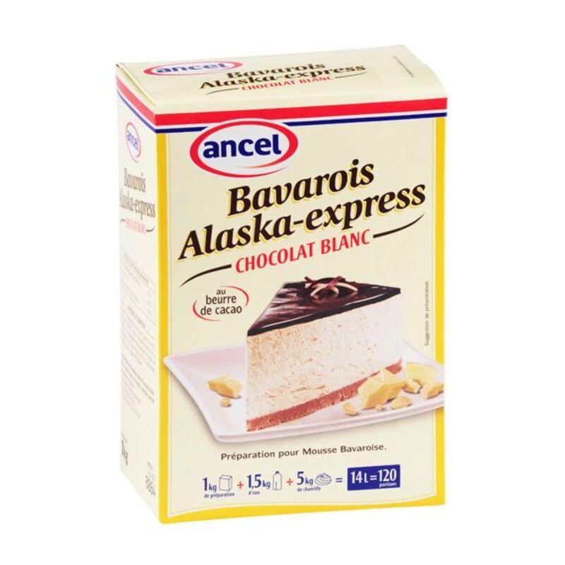 Préparation bavarois chocolat blanc Alaska 1 kg