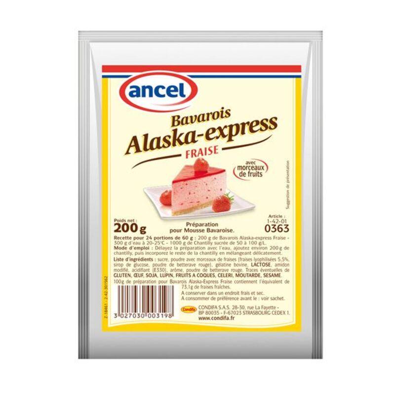 Préparation mousse bavaroise fraise Alaska 200 g