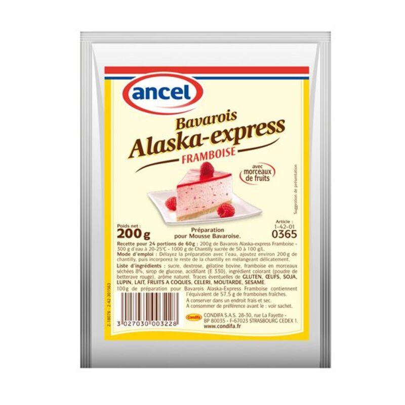 Préparation mousse bavaroise framboise Alaska 200 g