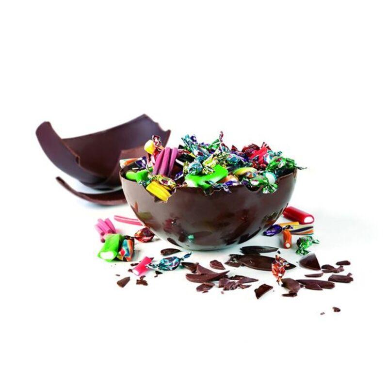 Moule magnétique 3D sphère chocolat 18,5 cm