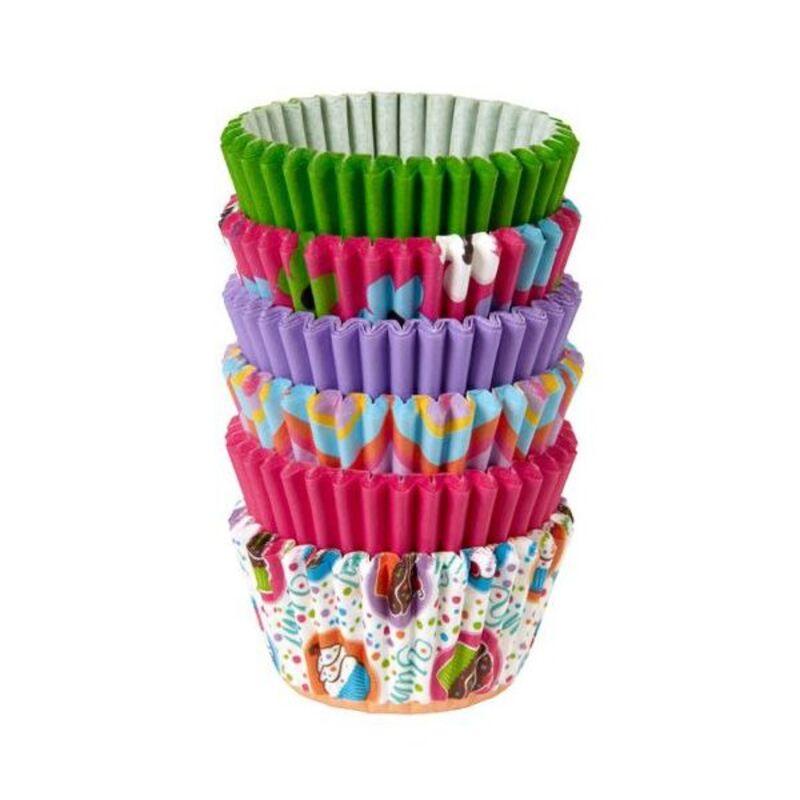 Mini-caissette cupcake assorties imprimées Wilton (x150)
