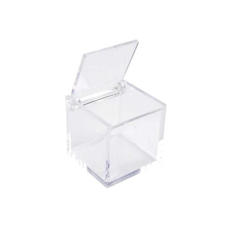 Boîte à dragées cube transparente (x3)