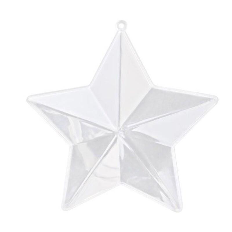 Boîte à dragées étoile transparente (x3)