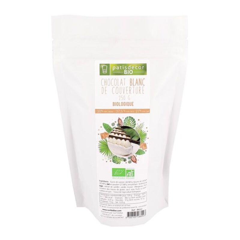 Chocolat Blanc Bio Patisdécor Bio 250 g