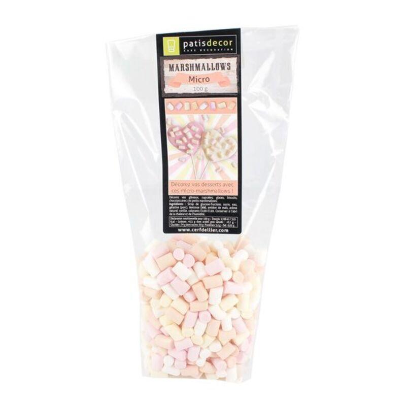 Micro marshmallows assortis Patisdécor 100 g