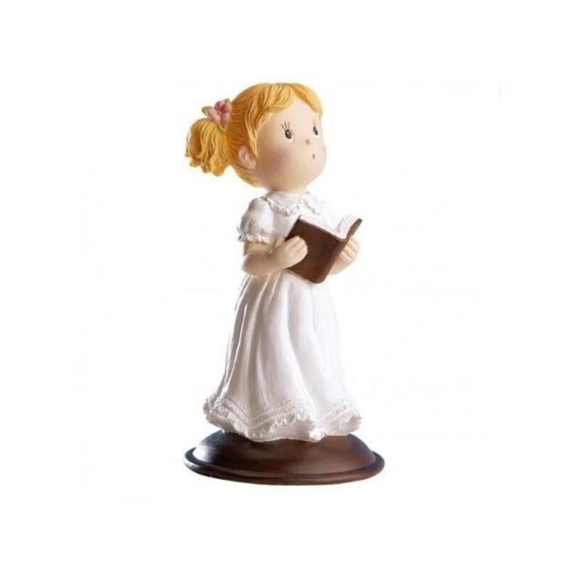 Communiante Bible à la main 12 cm
