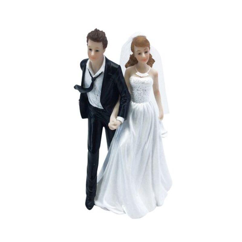 Couple mariés Cravate au vent 15 cm