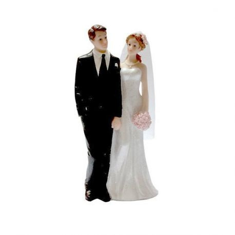 Couple mariés main dans la main 15 cm