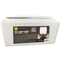 Pâte à sucre blanche arôme vanille Patisdécor 10 kg