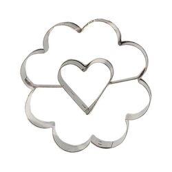 Emporte-pièce fleur coeur central 5 cm