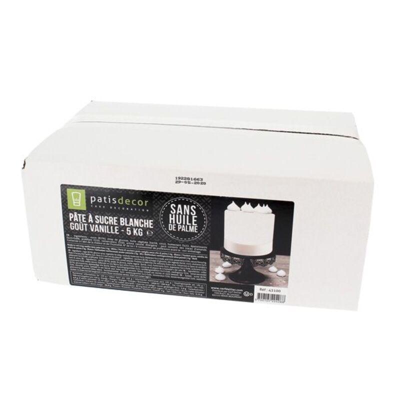 Pâte à sucre blanche arôme vanille Patisdécor 5kg