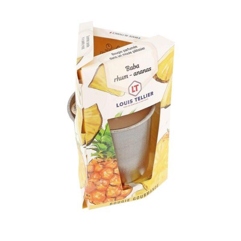Bougie Gourmande Baba rhum - ananas