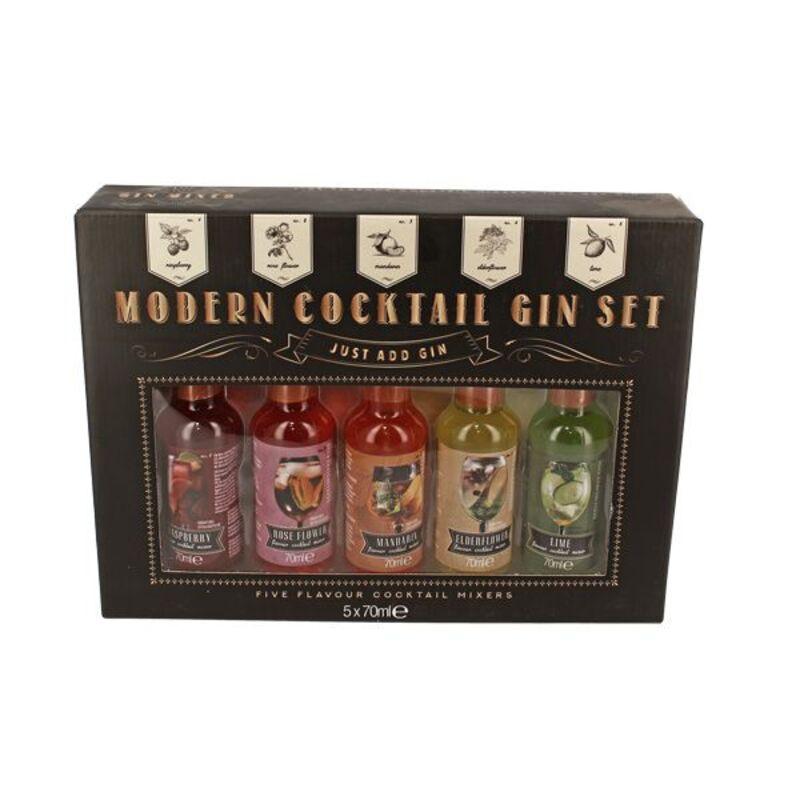 Coffret 5 cocktails pour gin